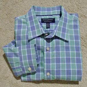 BANANA REPUBLIC Non-Iron Tailored-Slim Shirt M